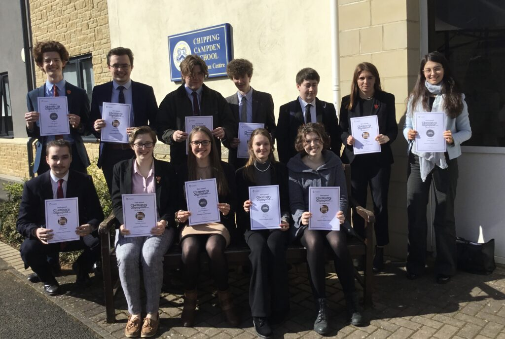 Chipping Campden Sixth Form Chemistry Olympiad Certificate Winners